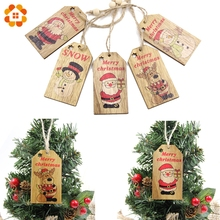 Multi Style Creative Wood Craft Christmas Wooden Pendants Ornaments Kids Gift DIY Xmas Tree Ornament Christmas Party Decorations