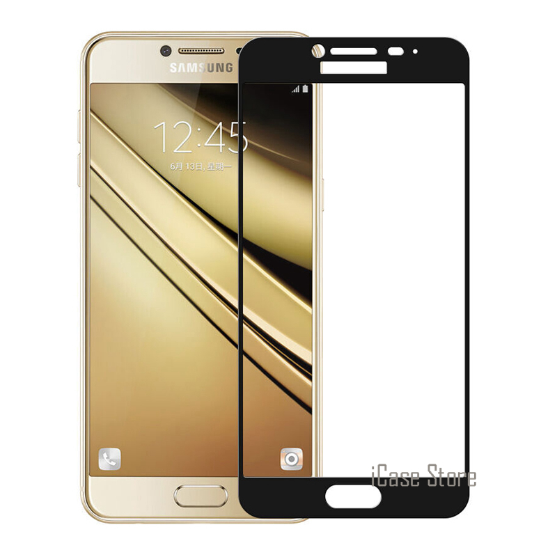 Full Cover Colorful Tempered Glass Screen Protector For <font><b>Samsung</b></font> Galaxy A3 A5 2017 2016 J3 <font><b>J5</b></font> J7 Prime C5 C7 Pro S6 S7 A7 A8 Film image