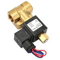Water Solenoid Valve G1/2 Normally Open Brass Electric Solenoid Valve for Water Air 0 1.6Mpa