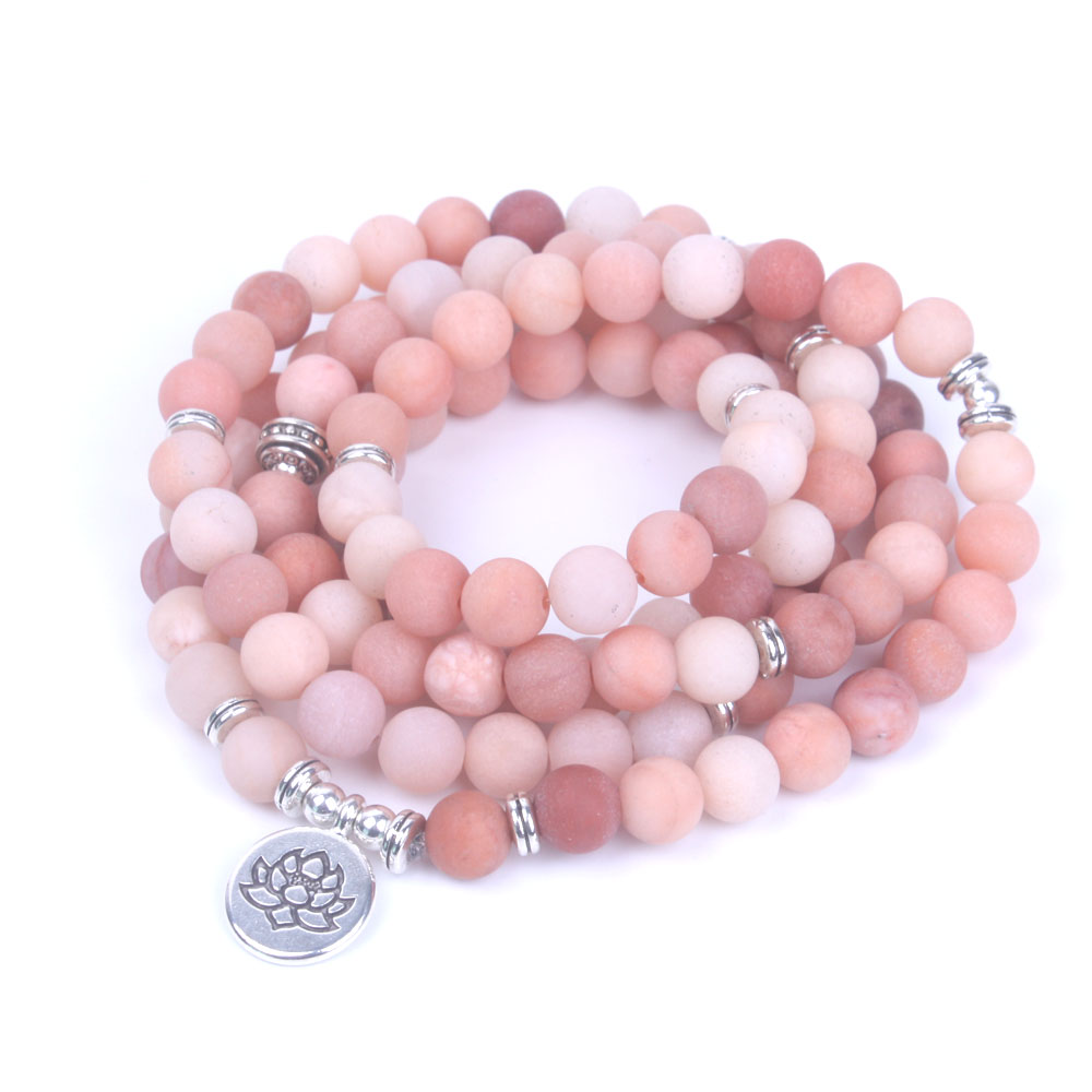 Rhodonite Mala Beads 4