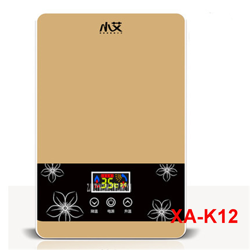 XA-K12 220 V /50 Hz Immediate Electric Shower Speed Hot Shower Bath Induction Heater Electric Heater Water Heater Warm Water