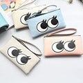 Veevanv primavera 2016 hot new lady Coreano olhos dos desenhos animados com zíper grande capacidade de saco de mão de zero carteira saco do telefone móvel