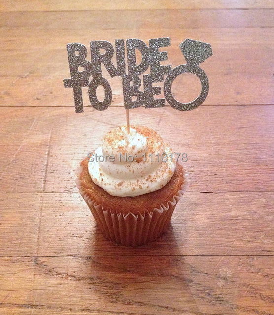 buy cheap bride to be cupcake toppers bridal shower bachelorette decorations. Black Bedroom Furniture Sets. Home Design Ideas