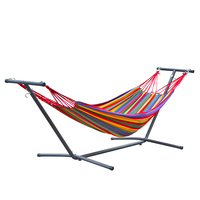 Double head Indoor Balcony Swing Removable Enlarge Widen Canvas Hanging Chair Anti rollover Hammock Chair metal shelf holder