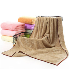 New Arrival Microfiber fabric Solid Coral Cashmere Bath Towel Beauty Salon Sauna Spa Bathrobes Absorbent Beach Towels for Adults