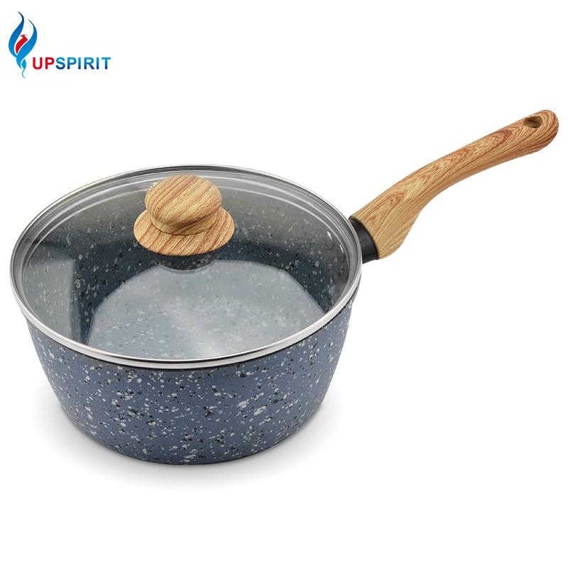 UPSPIRIT Гранит покрытия горшок молока антипригарным сковорода суп соус горшок с термостойкой ручкой для газовых электрическая плита Кухонная посуда