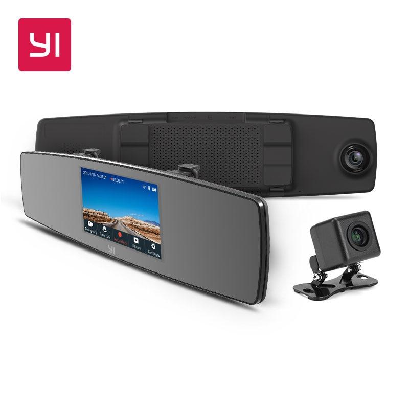 YI Spiegel Dash Cam Dual Dashboard Kamera Recorder Touchscreen Vorne Rückansicht HD Kamera G Sensor Nachtsicht Russische lager