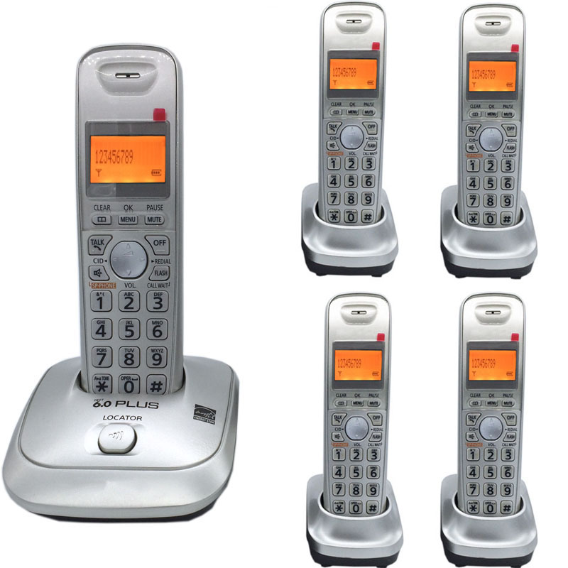 Expandable DECT 6.0 Plus 1.9 GHz Digital Cordless Phone Call ID Handfree DEL Wireless Home Telephone For Office Bussiness ...