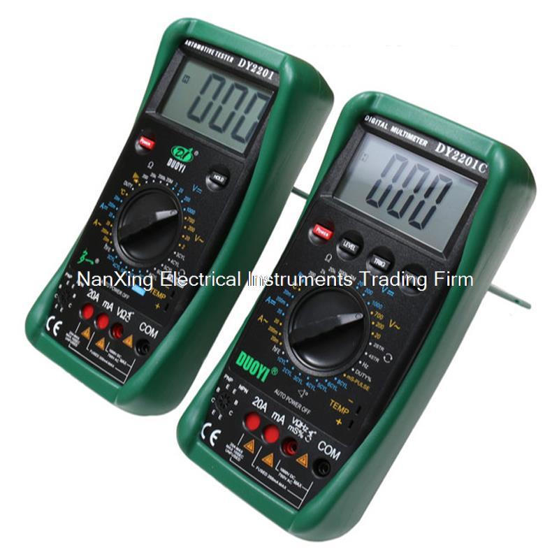 Arrivée rapide DY2201C AC DC voltmètre ampèremètre ohmmètre numérique multimètre automobile réparation multimètre