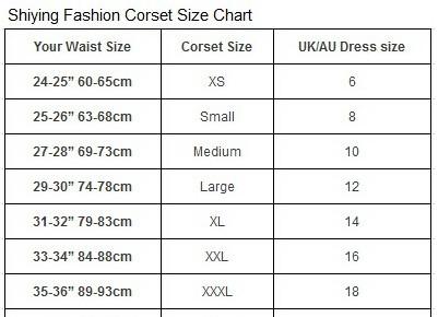 corset size 5374