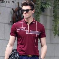 Airgracias Новый 2017 Поло рубашка для Для мужчин дизайнер Поло Для мужчин рубашка Мягкий хлопок короткий рукав Поло рубашка Для мужчин Топ брендо...