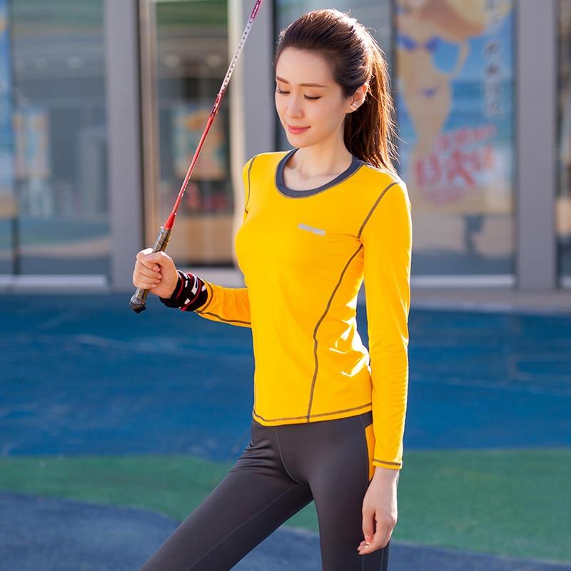 Yoga ensemble femmes Yoga vêtements noir Sport soutien gorge + pantalon + t shirt + manteau 4 pièces Fitness course Sport costume Gym vêtements Sportswear - 3