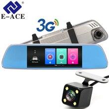 E-ACE 3G Auto Dvr 7 Pollici Touch Specchietto retrovisore Telecamere Android 5.0 GPS Bluetooth Handfree WIFI FHD 1080 P 16G Video Registratore