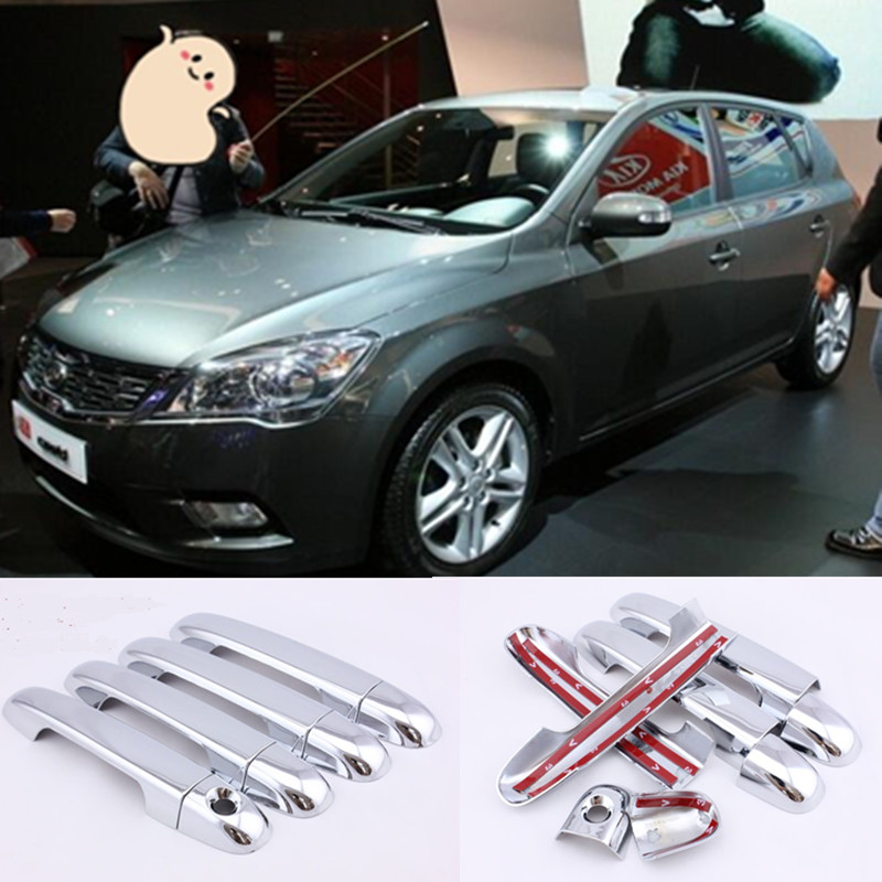 for KIA Ceed 2006 - 2012 ED Chrome Handle Cover Trim Set Cee d Cee'd 2007 2008 2009 2010 2011 Accessories Stickers Car Styling