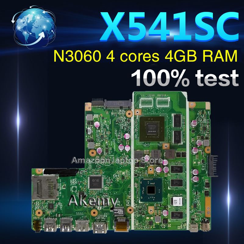 Amazoon X541SC MB._4G/N3060/AS V1G 90NB0CI0 R00040 Mainboard For Asus X541S X541SC X541SA Laptop motherboard 100% tested