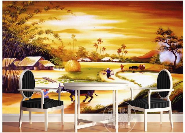 Customized 3d photo wallpaper for walls 3 d wall murals Hand painted ...