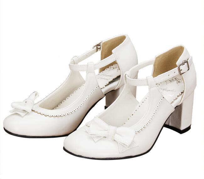 Femmes white Dentelle Partie Angélique 47 Empreinte 33 Pompes Lolita Lady Cm Princesse Mori Talons 5 6 Noir Fille Cosplay Haute Femme Chaussures Robe qPqBRA