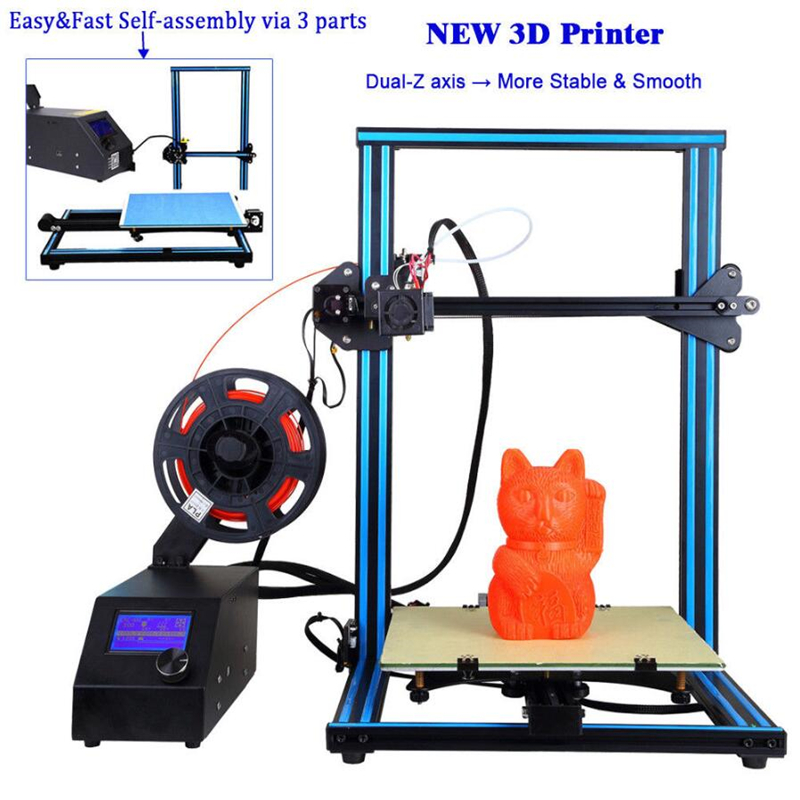 2018 Newest 3D printer Large 300*300*400mm Metal frame High Quality Precision DIY kit Filament SDcard LCD Ultimaker 2 A-10S