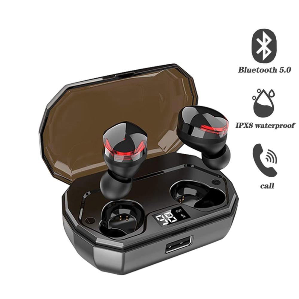 TWS-R10 sans fil Bluetooth écouteurs intra-auriculaires stéréo musique appel Siri voix Binuaral écouteurs avec 2000 mAh charge boîte batterie externe