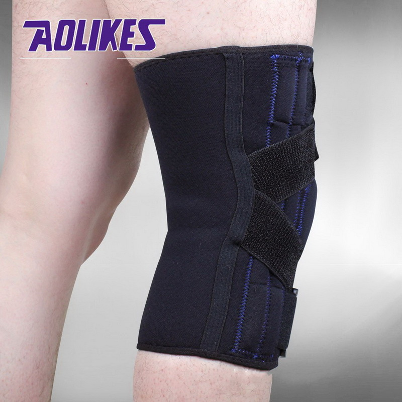 AOLIKES 1 STKS Verstelbare Scharnierende Wraparound Kniebrace Patella - Sportkleding en accessoires - Foto 3