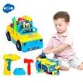 HOLA 789 Bump'n'Go jouet camion avec perceuse électrique et divers outils, lumières et jouets musicaux pour enfants bébé jouet cadeau