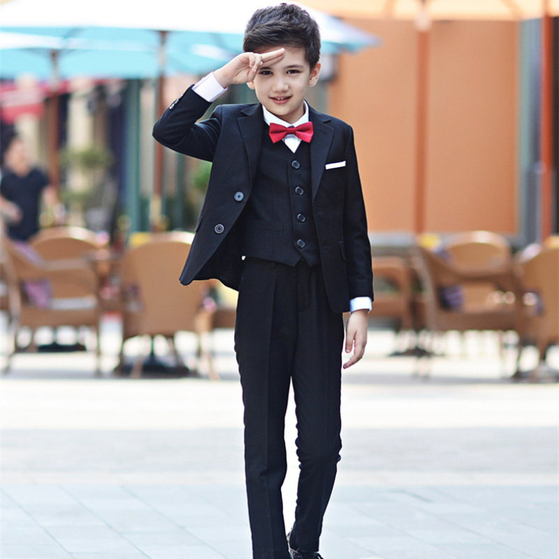 ca6f1df60e9 New Fashion Boys Suits For Weddings Kids Prom Suits Coat+Pant+Shirt+Tie Children  Clothing Set 3-14T Boys Blazers Kids Z389