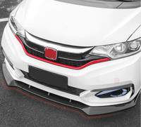 JIOYNG ABS CAR FRONT LIP BUMPER SPOILER COVER FOR HONDA FIT / JAZZ GK5 2014 2015 2016 2017 BY EMS MTC STYLE