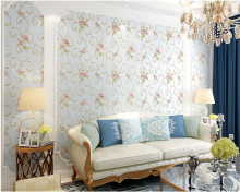 beibehang Environmental American nonwoven wallpaper garden warm flowers 3d living room marriage TV background