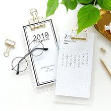 JIANWU 1pc Creative menu clip desk calendar 2018-2019 schedule desk calendar weekly planner memo school office stationery