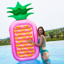 INS Hot Pineapple Inflatable Pool Float 2019 Summer 180cm Giant Adult Swimming Ring Beach Water Toys Air Mattress boia piscina 180cm pineapple swimming float air mattress water gigantic donut pool inflatable floats pool toys swimming float adult floats