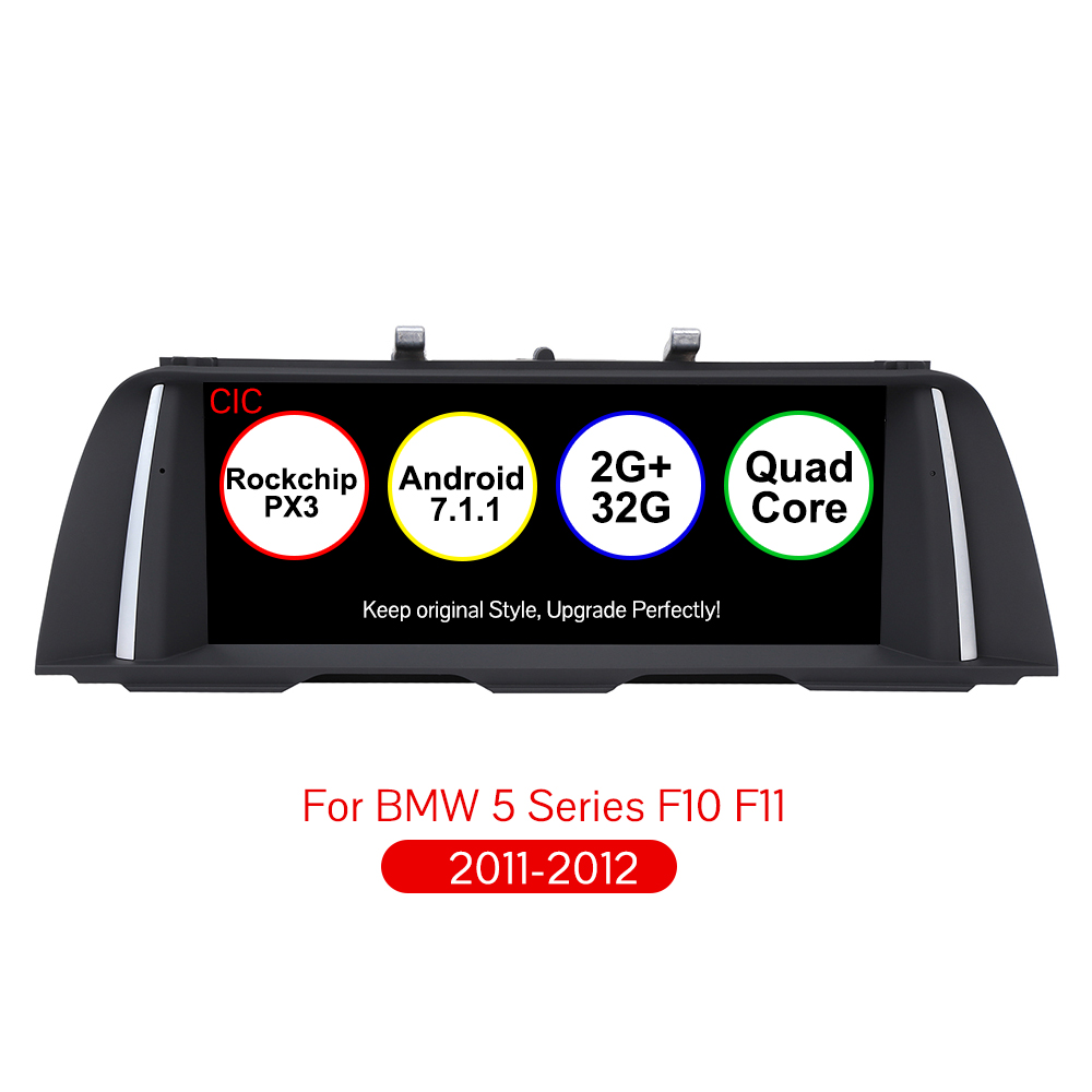 Android 7.1 Voiture Lecteur Multimédia 10.25 pouce Audio De Voiture Navigation Pour BMW 5 Série F10 F11 D'origine CIC Système
