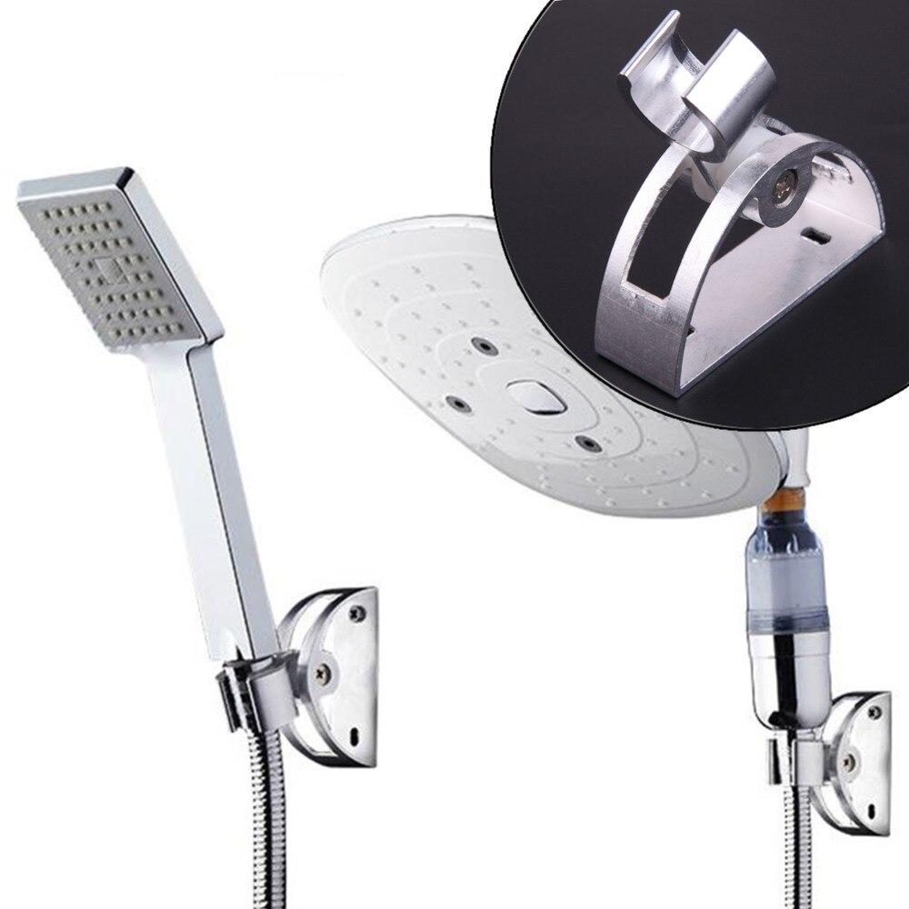Aluminum Adjustable Shower Head Holder Bath Rack Fixed Wall Durable Strong Sucker Shower Head Stand Bracket Holder Bathroom Tool ...