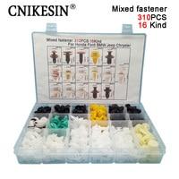 CNIKESIN 310PC Mixed Auto Fastener Car Door Bumper Fender Liner Plastic Rivet Fixed Clip For Honda