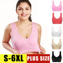 SEXYWG S-6XL Sport Top Yoga Bra for Women Sleep Seamless Push Up BH Brassiere Shockproof Gym Fitness Athletic Vest PLUS SIZE