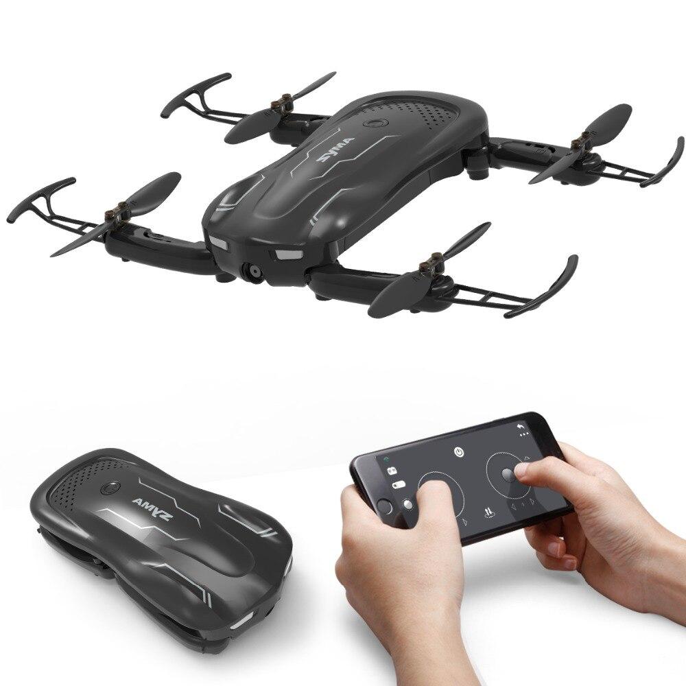SYMA Z1 Pliable Mini Quadrocopter avec Caméra HD 720 p FPV Transmission En Temps Réel RC Hélicoptère App Contrôle Poche Quadcopter