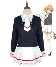 New Clear Card Clamp Cardcaptor Sakura Kinomoto School Uniform Outfits Cosplay Costume Halloween Adult Costumes for Women