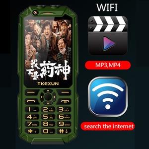 "Image 3 - Wcdma 3g 휴대 전화 3.0 ""터치 스크린 전원 은행 와이파이 푸시 버튼 듀얼 sim 듀얼 손전등 시끄러운 스피커 핸드폰 러시아어 키"