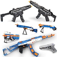 Pistol AK47 M1A1 MP5 Desert Eagle military Sets Technology creative assembly model building block toy gift