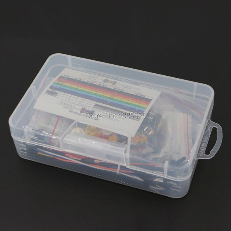Starter Kit für arduino Widerstand/LED/Kondensator/Jumper Drähte ...