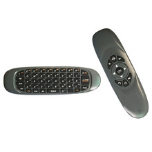 Mini Wireless Keyboard Air Mouse Remote Control For Android TV Box Color:Black