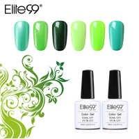 Elite99 10ml Grün Farbe Serie Gel Lack Langlebige Nagel Gel Polnisch Gehärtet Mit UV LED Lampe Nagel Kunst polituren Gel Lack