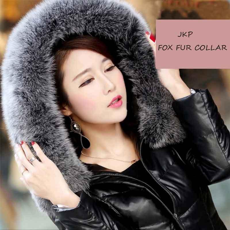 JKP*2018 winter real fox fur collar natural fur collar 70 cm long real fur scarf multicolor optional