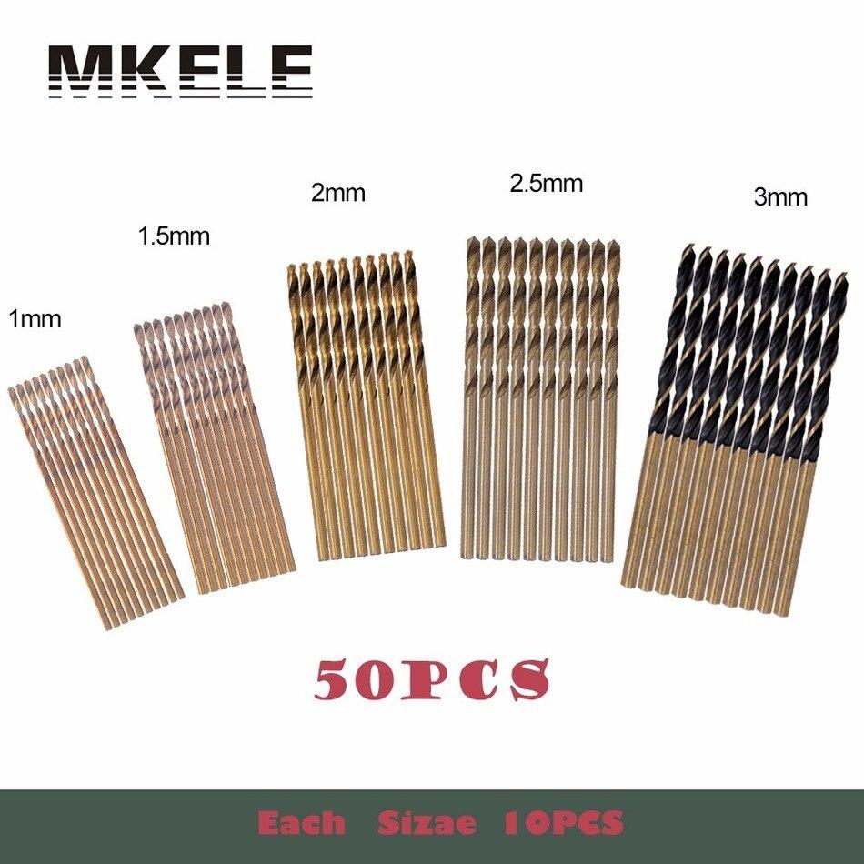 Wood Drill Bit High Quality Persian 50Pcs/Set Twist HSS Steel Woodworking Power Tools 1/1.5/2/2.5/3mm For Metal Herramientas New сумка для ноутбука 16 hp qb681aa черный
