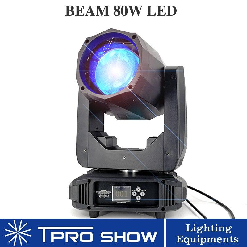 80W faisceau LED lumière principale mobile 8 16 prisme effet d'éclairage de scène Zoom linéaire gradation stroboscope Gobo projecteur Lyre faisceau pour DJ Club