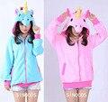New Unicorn Hoodie Novelty Women Hoodies Anime Cartoon Unicorn Sweatshirts Tracksuits Hooded Jacket Adult Animal Cosplay Costume