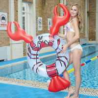 Giant Inflatable Shrimp Lobster Shaped Swimming Ring Swim Tube Float Raft PVC Summer Pool Fun Party Toys Adult Kids Boia Piscina