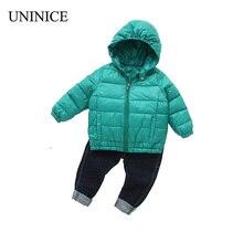 UNINICE Girls Boys Down Jackets Coat Winter Parkas Hooded Infant Down Jacket Warm Kids Jackets Girls Snow Wear Coat Children