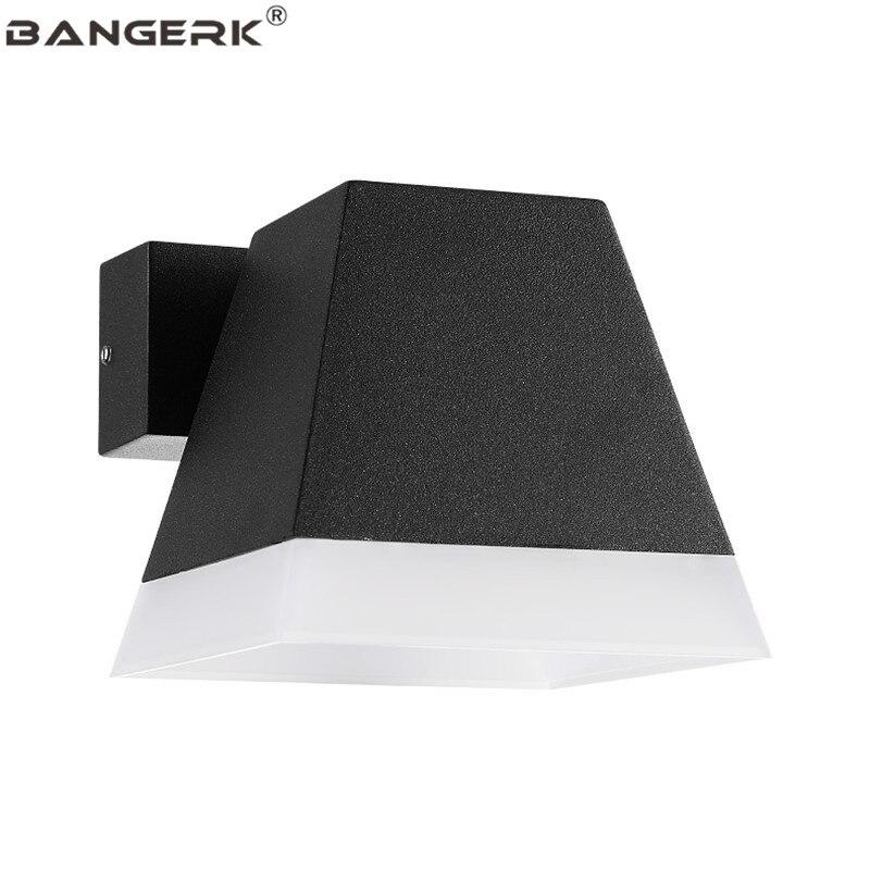 A LED per esterni Lampada Da Parete 5 W IP65 Impermeabile Moderna Riparo Della Parete Luci del Giardino Cortile Complementi Arredo Casa Alluminio Apparecchi di Illuminazione