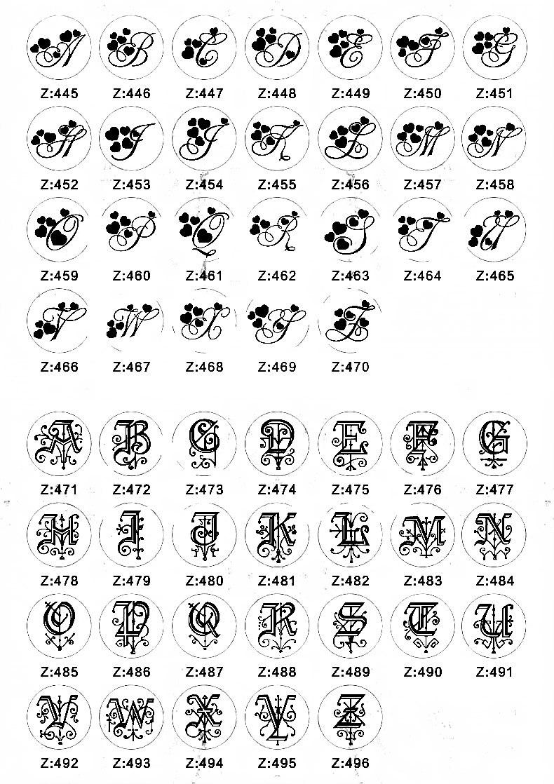 Letter stamp 1-10