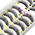 10 Pairs Cotton Eyelash Extension Stalk Long Thick False Eyelashes Makeup Black Fake Eye Lashes Makeup